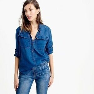 Madewell Chambray Blue button down top